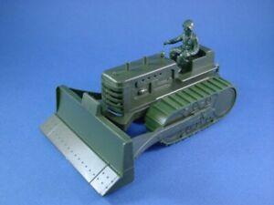 MARX-WWII-BULLDOZER-WITH-DRIVERS-RECAST-ARMY-TOY-SOLDIER-FARM-SET-1-32-FREE-SHIP