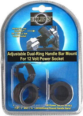 ADJUSTABLE DUAL-RING HANDLE BAR MOUNT BLACK