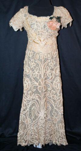 Antique Edwardian Lace Dress, c1905 Battenburg Lac
