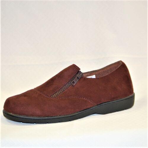wasbare Shannon 886374185419 6 dames met loafer medium Propet velours W3240 ritssluiting bruin HTXxT17