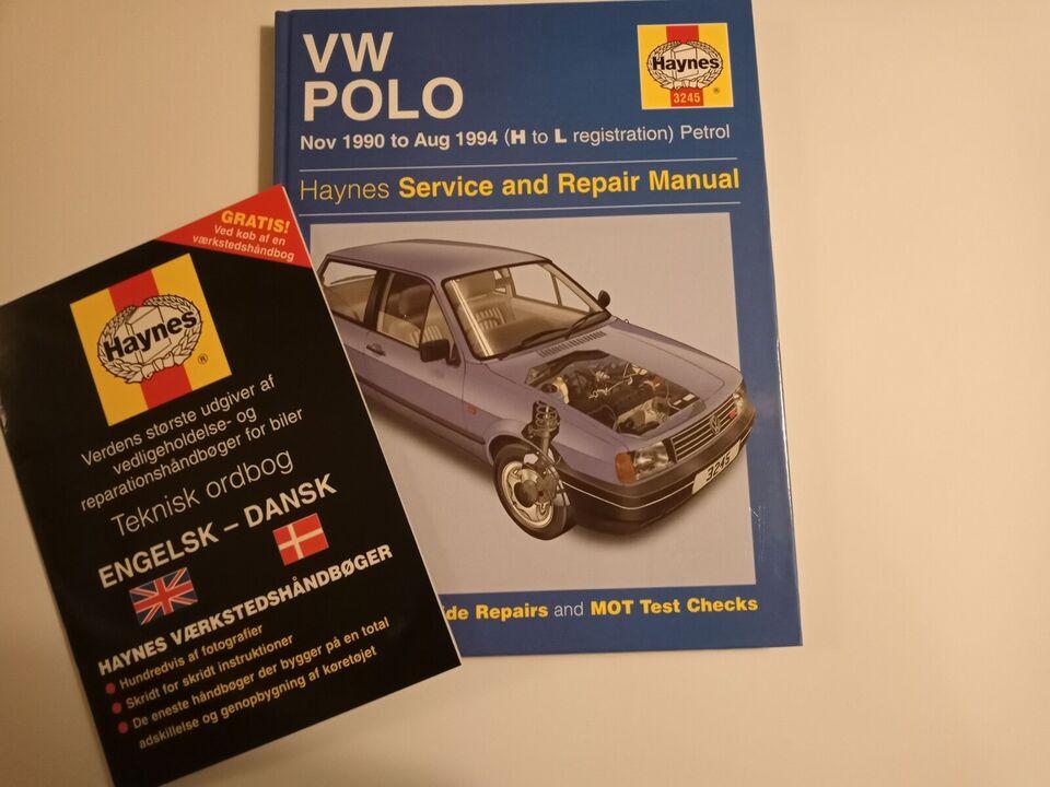Reparationshåndbog, Haynes VW Polo 1990 - 1994