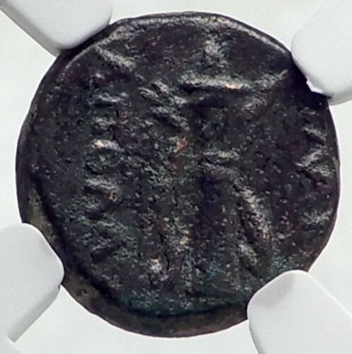 Details about  /BLAUNDOS in LYDIA Authentic Ancient 2-1CenBC Greek Coin APOLLO BOW NGC i80918