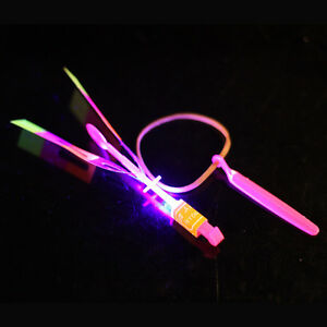 Slingshot LED Helicopter Light Up Spinning Firefly Toy Copter (BULK LOT OF 600X)
