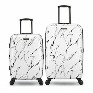 American Tourister Moonlight Plus 2pc Expandable Luggage Set, Marble (Open Box)
