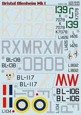 Print Scale - 48-081 - Decal for Bristol Blenheim Mk.I - 1:48