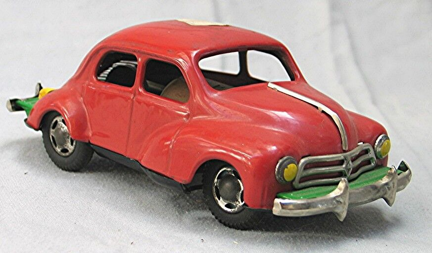 Vintage 1950's Renault     - Tin Friction Toy Car --  Made in Japan c0c7a0