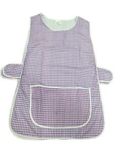 1 Ladies DogTooth Tabard Tabbard Apron Work Overall  Anne  Pink  All Sizes - Robertsbridge, United Kingdom - 1 Ladies DogTooth Tabard Tabbard Apron Work Overall  Anne  Pink  All Sizes - Robertsbridge, United Kingdom