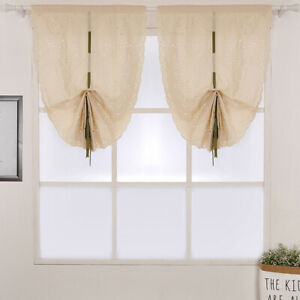 Country Style Floral Roman Tie Up Shade Window Balloon ...