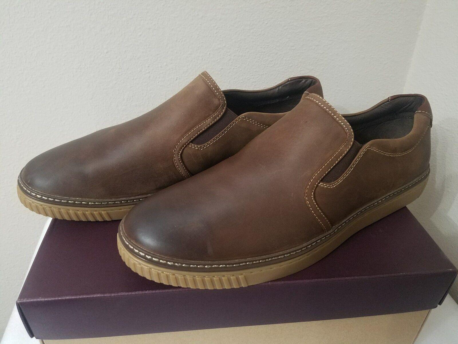 Johnston & Murphy 25-2820 marron Huilé Slip On chaussures 13 m