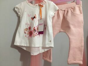 20ea6d95034536 New Baby Girls Designer Ted Baker Floral Bunny Quilted Outfit Top& ...