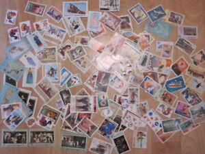 Lot-de-plus-de-100-timbres-de-Coree-A-etudier