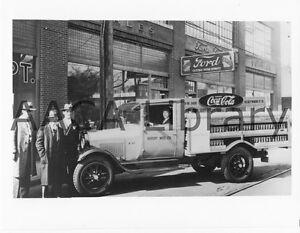 Factory Photo 1928 Ford AA Bottlers Rack Truck Coca-Cola Ref. # 43102 Coke