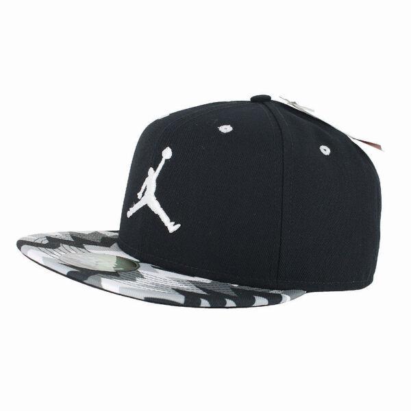 e23abce69c39b7 Nike Jordan 7 Retro Jumpman Snapback Hat Black White 718750 011 for sale  online