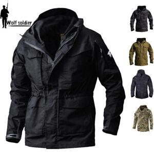 Details zu Army Tactical Herren Jacke Military Combat M65 Field Jacket Wasserdicht Mäntel