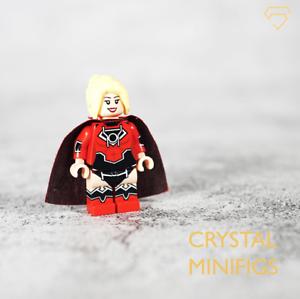⎡CRYSTAL MINIFIGS⎦Custom Red Lantern Super Girl Lego Minifigure