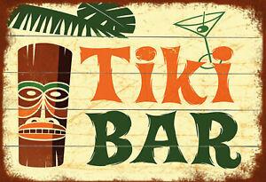 Tiki-BAR-Panneau-Metallique-Plaque-Voute-Signe-en-Etain-Metal-20-X-30-cm-FA0334