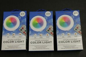 3-Pack-Remote-Controlled-Stick-On-LED-Color-Changing-Lights-12-Colors-Home-New