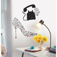 GIRLS JUST WANT TO HAVE FUN SONG LYRICS WALL DECALS Dress Up Red Black Stickers