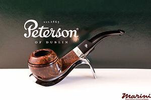 PFEIFE PIPES PIPE PETERSON OF DUBLIN WICKLOW 80S CURVA RADICA ORIGINALE SILVER