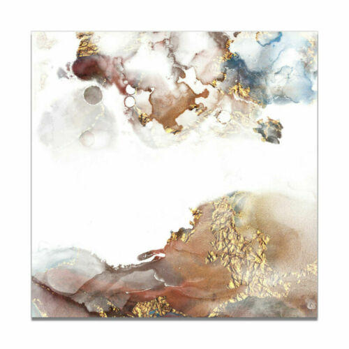 Abstract Reddish Brown Marble Texture Painting Canvas Art Poster Wall Home Decor