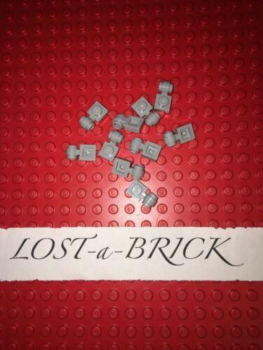lumière gris bleuâtre x10 LEGO Plate Modified 1x1 with Clip Light Pièce Nº 4081b