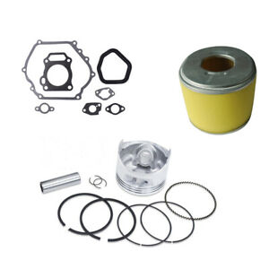 PISTON RING KIT WITH GASKET KIT AIR FILTER FOR HONDA GX270 ENGINES 77MM