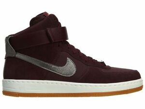 plus récent ddf23 211ce Details about NIKE WMNS AIR FORCE 1 AIRNESS MID SUEDE BURGUNDY 654851-600  NEW IN BOX NIB