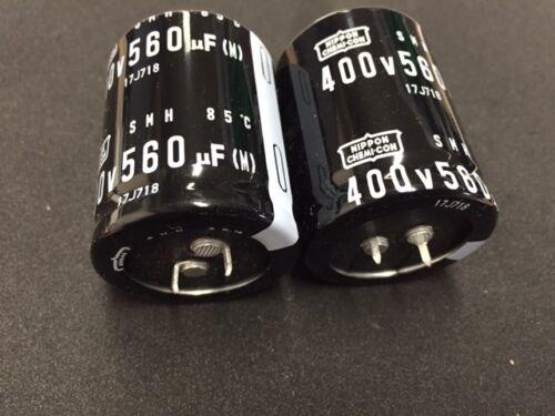 Broche de presión en electrolítico Series ** 3 por Venta ** 560UF 400V NIPPON CHEMICON SMH