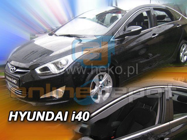 Wind Deflectors HYUNDAI i40 4/5-doors 2011-onwards 2-pc HEKO Tinted