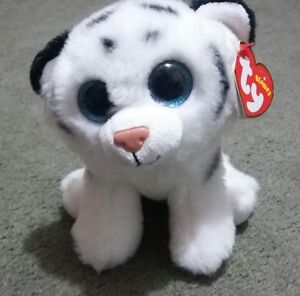 4721d47b11d Image is loading TY-Beanie-Babies-Tundra-White-Tiger-Stuffed-Collectible-