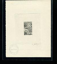 Somali Coast 1960 Birds Scott 283 Signed Sunken Die Artist Proof in Black