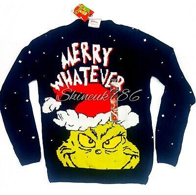 Official Dr Seuss GRINCH PJ Top Jumper PYJAMAS Shirt Pajamas Xmas Primark Gift