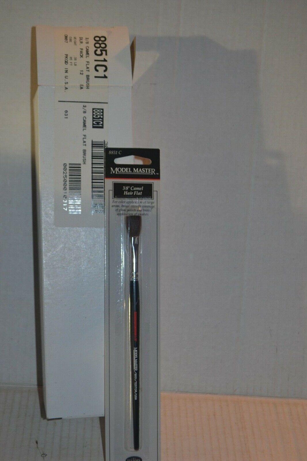 12 Testors Model Master 8851c 3 8 Camel Hair Flat Paint Brush
