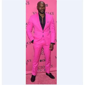49e4f49d452b Custom Rose Pink 2 Piece Suits Men Wedding Suits Groom Tuxedos ...