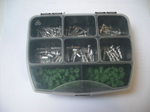 Amp superseal joints contacts environ 200 pièces boîte électrique voiture camion bateau.