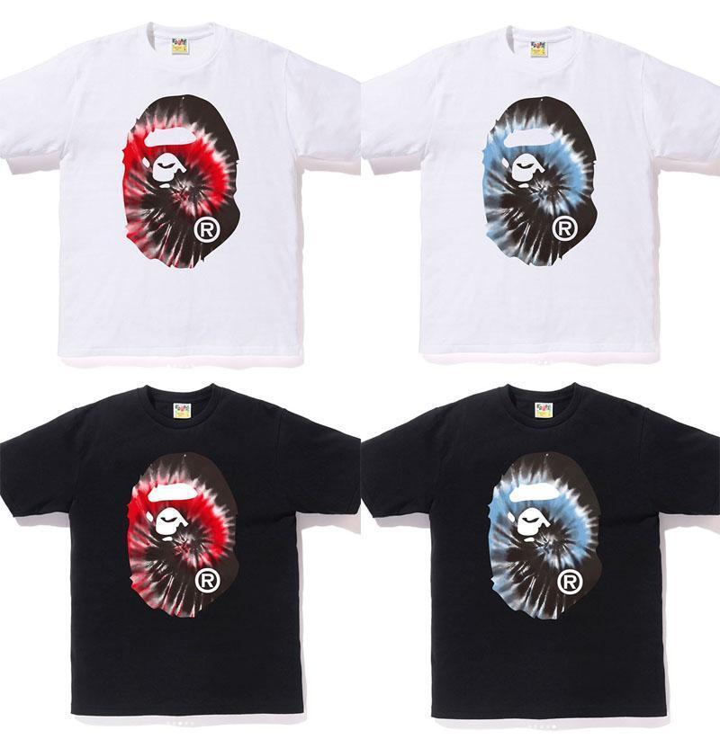 [S-3XL] A BATHING APE Men's TIE DYE BIG APE HEAD TEE 4colors From Japan New