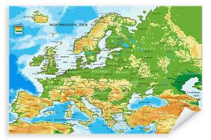Postereck-Poster-1031-Europa-Karte-Laender-Hauptstaedte-Englische-Schrift