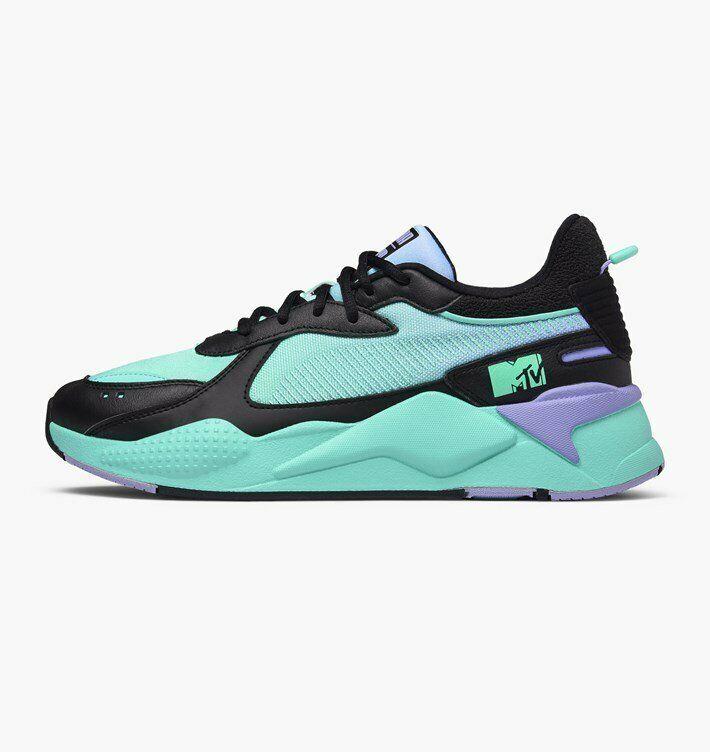 Puma x MTV RS-X Tracks Gradient Gloom Lifestyle Sneakers Black Men New 370939-01