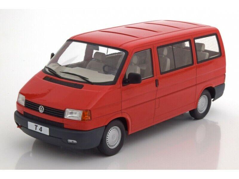 KK-SCALE 1 18 VOLKSWAGEN BUS T4 CARAVELLE 1992 rouge MODELLINO