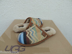 095fb3ab52a Details about UGG RARE PENDLETON CHESTNUT SCUFF DECO SLIPPERS, KIDS UNISEX  US 13/ EUR 30 ~ NEW
