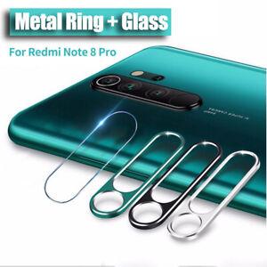 Para Xiaomi Redmi Note 8/ 8Pro Anillo de lente de cámara + película de vidrio-RO
