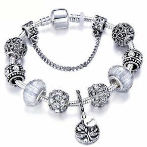 Sterling Silver Pandora Bracelet Bangle With Love Story European Charms Ebay