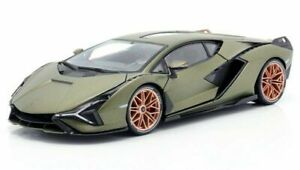 Lamborghini Sian FKP 37 matt-oliv 2020 - 1:18 Burago