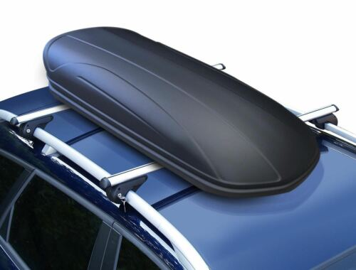 Dachbox VDPMAA320L matt+Alu Relingträger VDP004L für VW Tiguan ab 07