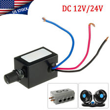 Dc 12v 24v Motor Speed Controller Switch Truck Fan Heater Control Defroster Usa