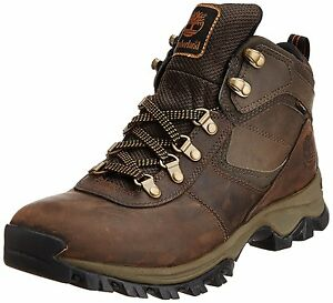 8c3faaf51bb Details about Men's Timberland Mt. Maddsen Mid Waterproof Hiking Boot Dark  Brown 2730R