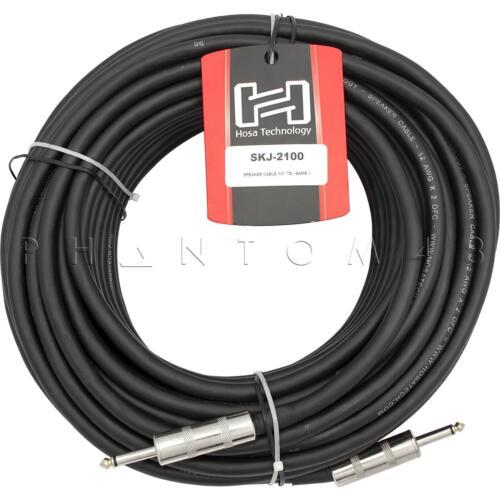 Hosa Technology SKJ-2100 12 AWG REAN 1//4 in Unbalanced Speaker Cable 100/' 100ft