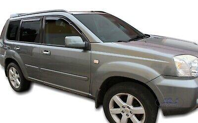 Deflecteurs dair d/éflecteurs de Vent Compatible avec Nissan X-Trail T30 2001-2007 4 pi/èces J/&J AUTOMOTIVE