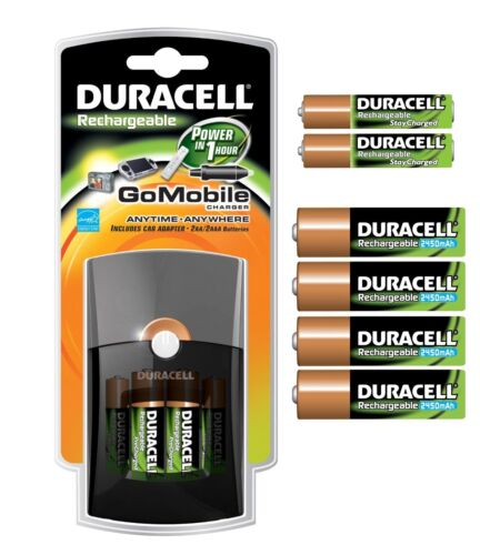 Duracell® Go Mobile Battery Charger Power in 1 hour with 6 AA & 4 AAA Batteries