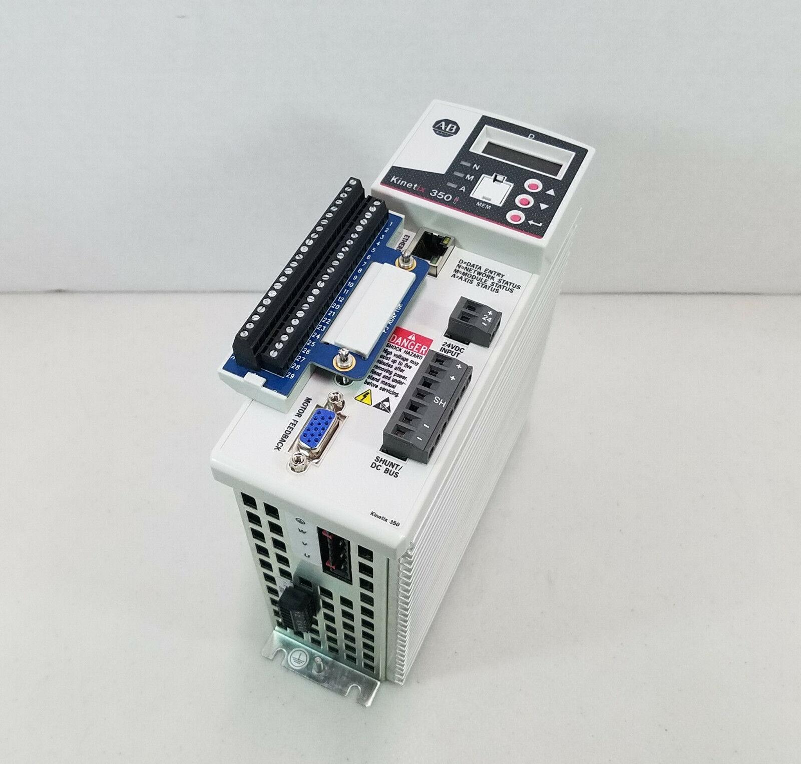 Allen Bradley 2097-V33PR3-LM Kinetix 350 Single Axis Servo Drive w/  EtherNet/IP